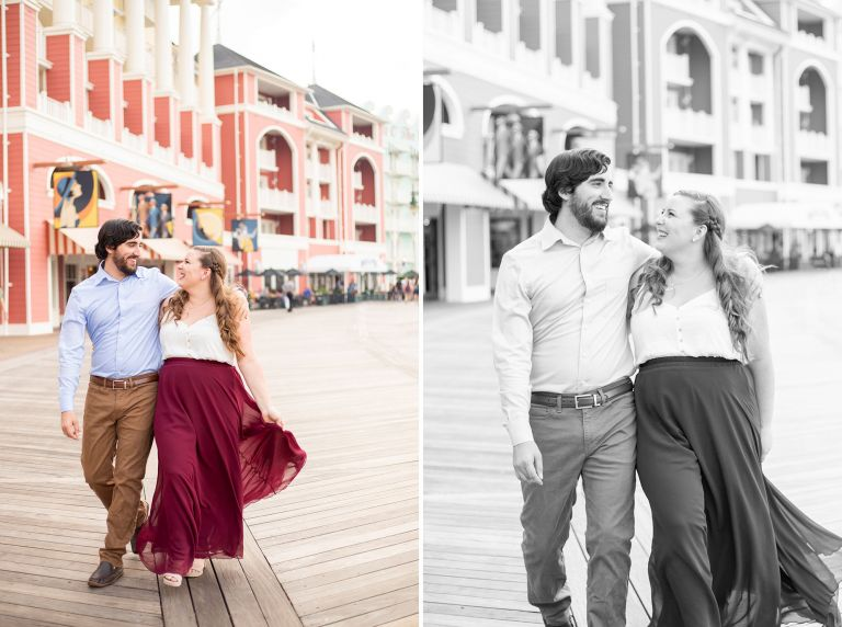 Disney's Boardwalk Engagement Photos