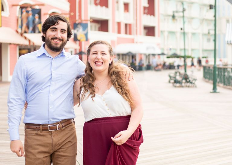Disney's Boardwalk Engagement Photos in Orlando FL
