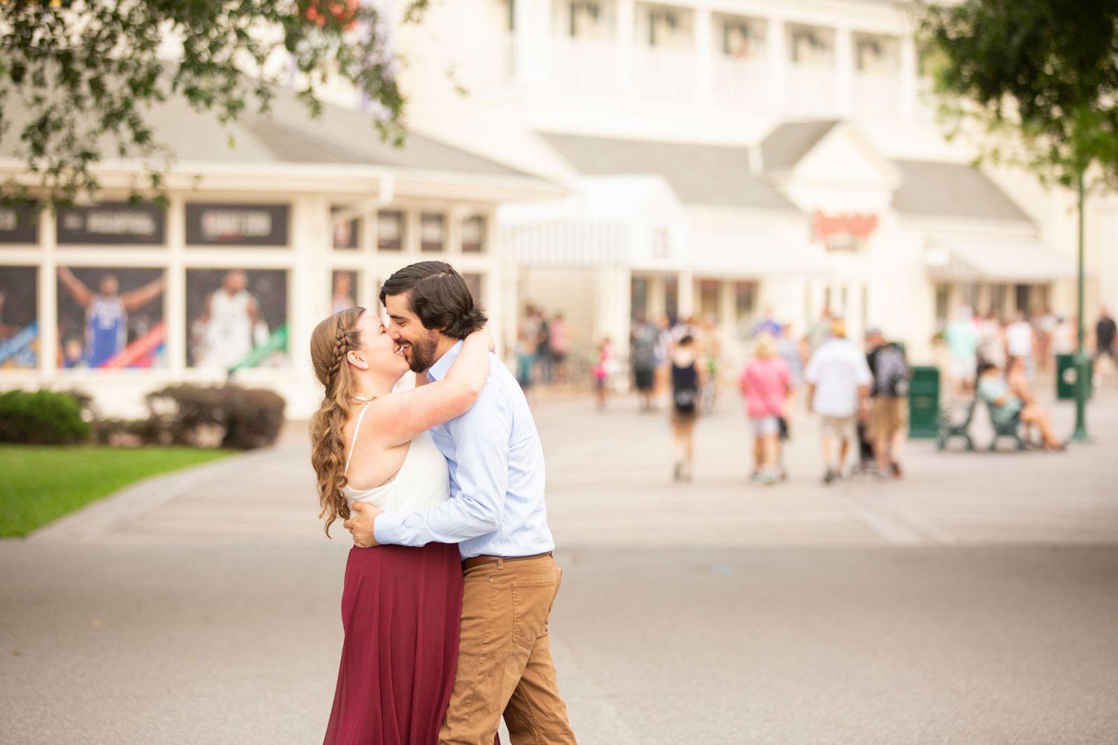 Disney's Boardwalk Engagement Photos in Orlando FL