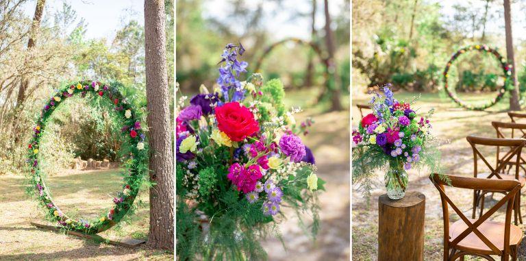 intimate backyard wedding details