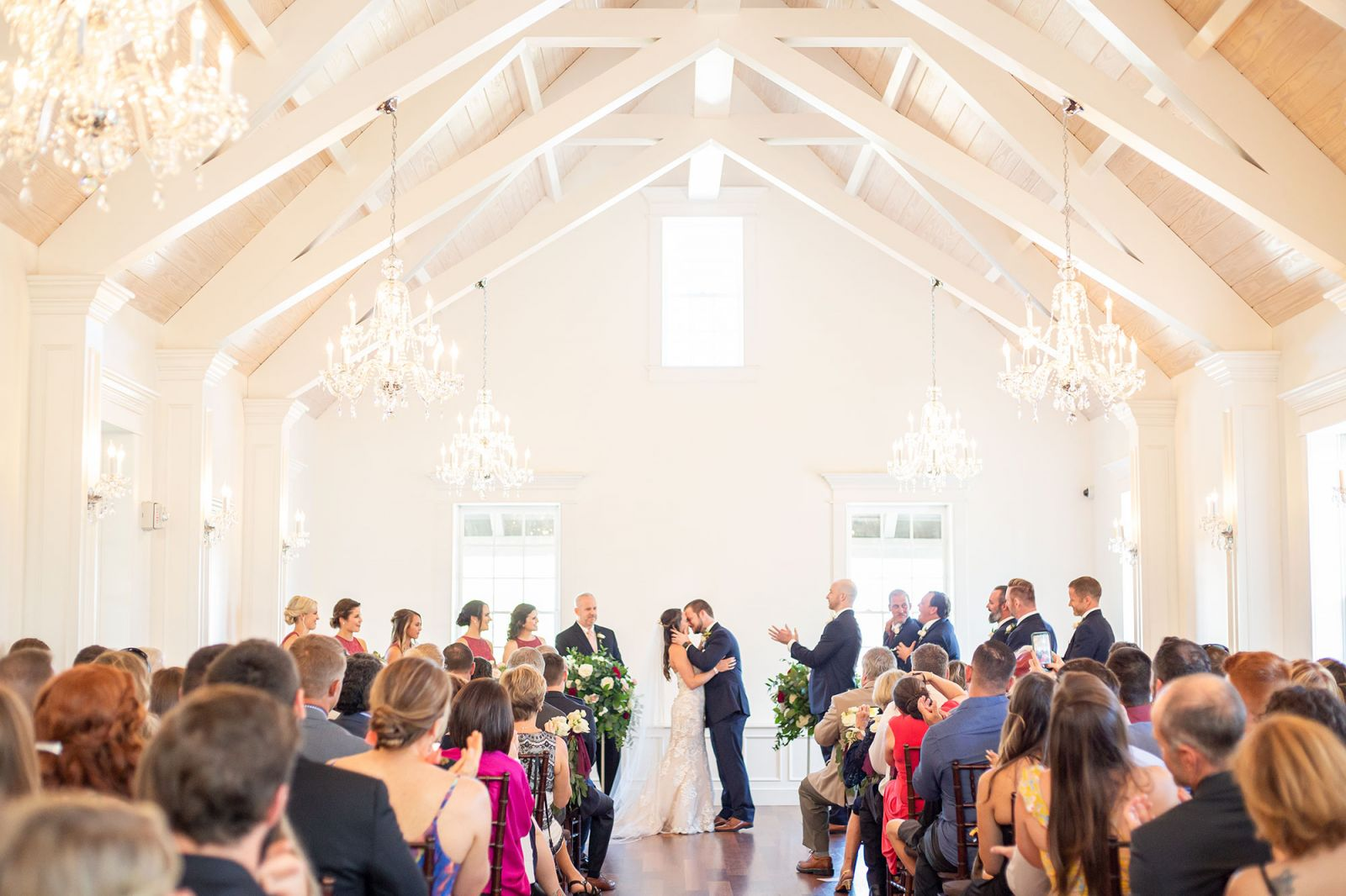 the white room ceremony at st augustine wedding venue